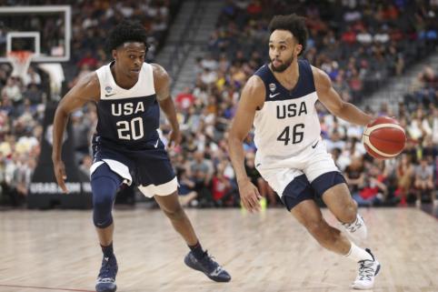 JAV rinktinės kandidatų sąraše liko trylika krepšininkų