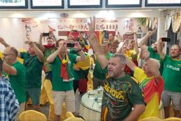 Lietuvių sirgaliai savo dainomis stebino kinus