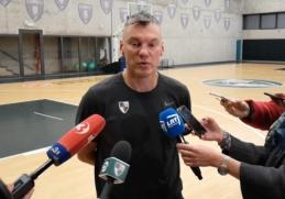 """Š.Jasikevičius: """"Serbai nepasižymi kūryba, bet sugeba laimėti"""""""