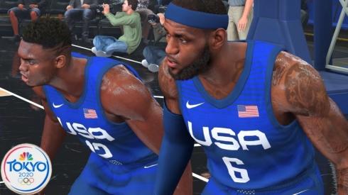 NBA 2K21: Tokijo olimpinių žaidynių amerikiečių mačas prieš kinus